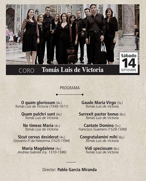 El Coro de Cámara Tomás Luis de Victoria segundo concierto del Festival de Música Sacra Rey Balduino