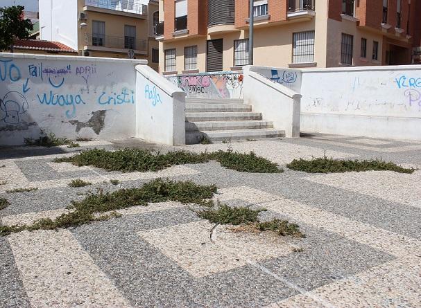 """El PSOE denuncia """"el lamentable estado de abandono"""" en la calle y la plaza de la Esparraguera"""