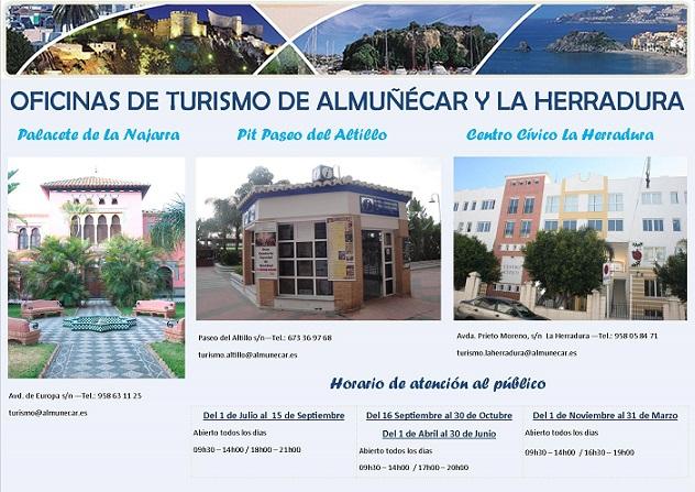 Las oficinas de turismo de Almuñécar atendieron en el mes de septiembre 8441 consultas