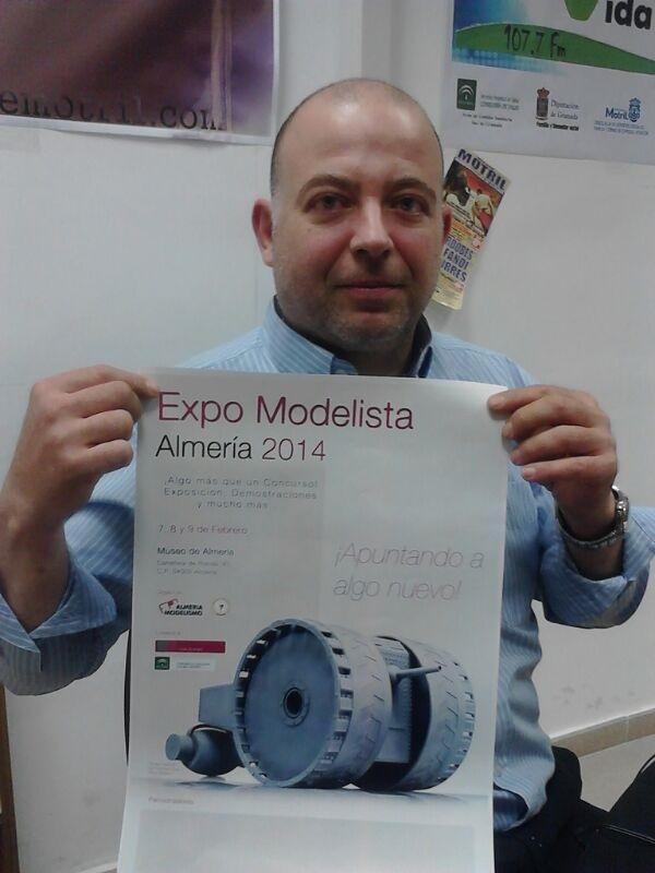 La Expo-Modelista de Almería representada con una maqueta del motrileño Francisco José Pinos Cabrera