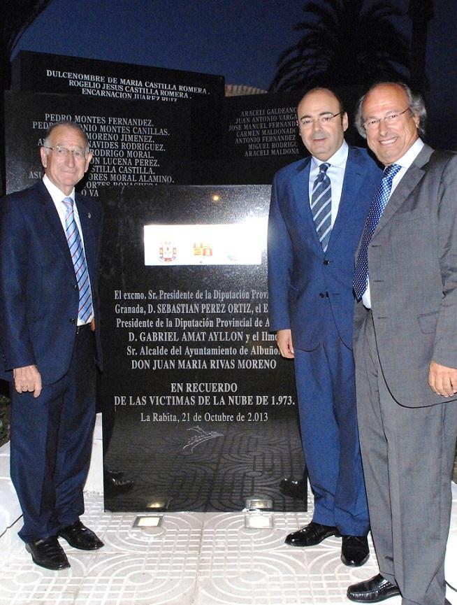 La Diputación de Granada se suma al homenaje a las víctimas de la riada de La Rábita en su cuarenta aniversario