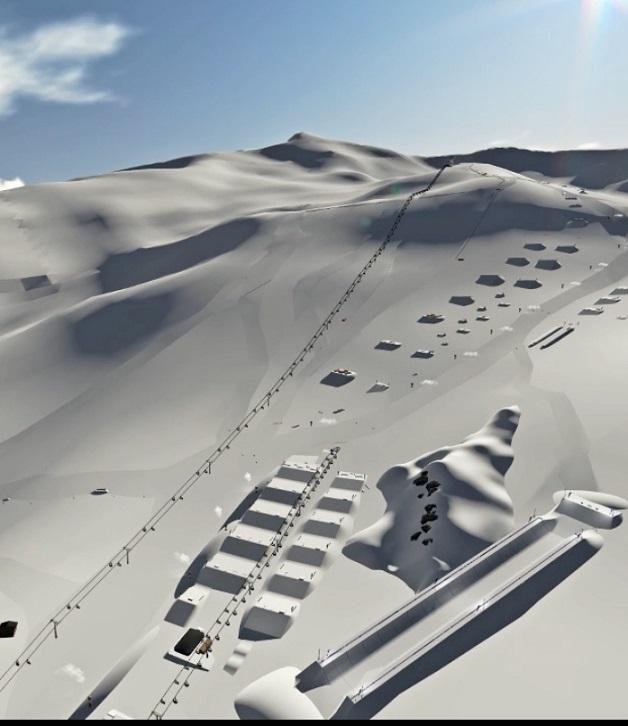El snowpark de Sierra Nevada diseña la línea  más larga de Europa para la nueva temporada