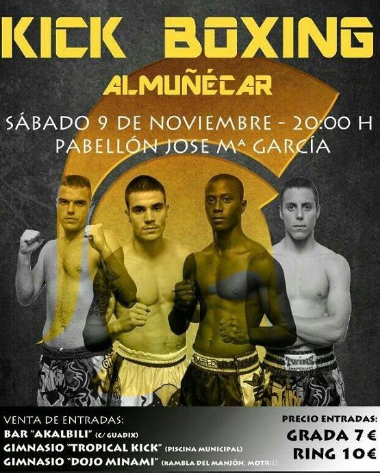 Almuñécar acoge este sábado  una nueva velada de Kick Boxing