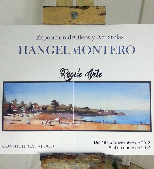 Ciento siete obras pictóricas en exposición de Hangel Montero
