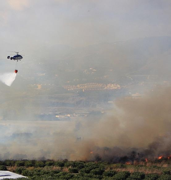 """""""Bajo control"""" el incendio originado en la zona de los Álamos"""