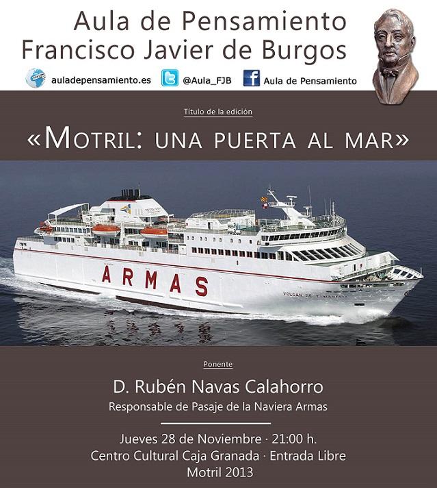 Motril: una puerta al mar, conferencia que impartirá Rubén Navas en el Aula de Pensamiento