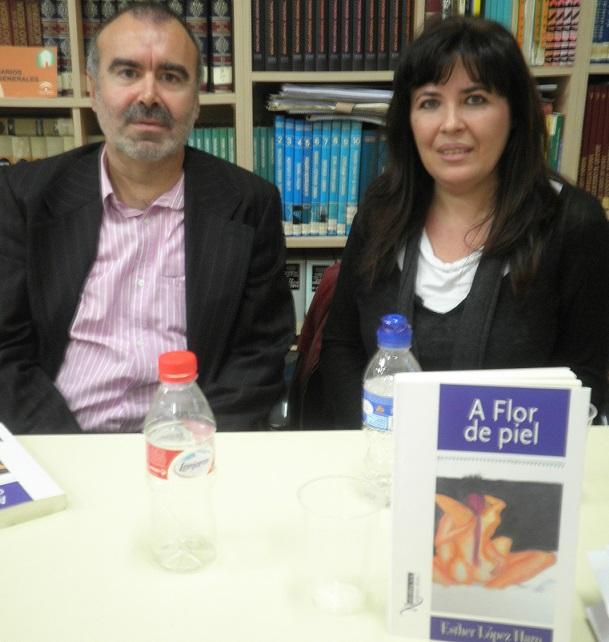 """Esther López Haro hablo de su libro """"A flor de piel"""" en el IES Antigua Sexi"""