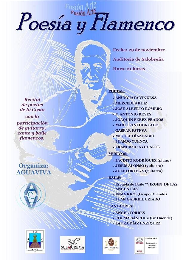 Poesía y Flamenco hoy viernes en el auditorio de Salobreña