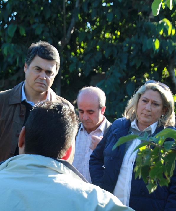 Carlos Rojas  ha mostrado su apoyo a los agricultores sexitanos afectados por la tormenta de granizo