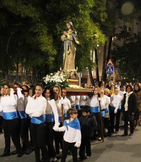 El barrio almuñequero de La Carrera de la Concepción celebró con éxito sus fiestas patronales