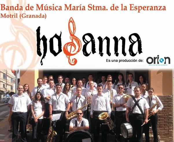 La Banda de Música María Stma. de la Esperanza, de Motril confirma que grabará su marcha en HOSANNA