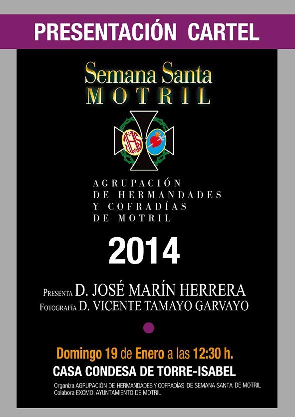 Presentacion oficial del cartel de semana santa Motril 2014