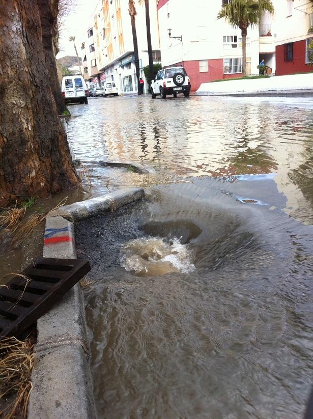 El PSOE Almuñécar exige la construcción de redes de recogida de pluviales para evitar más inundaciones