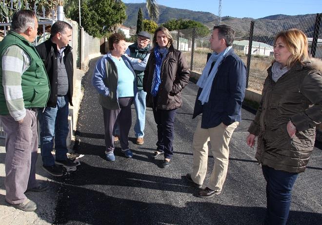 Los Tablones cuenta con 500 metros más de caminos rurales asfaltados gracias al PFEA