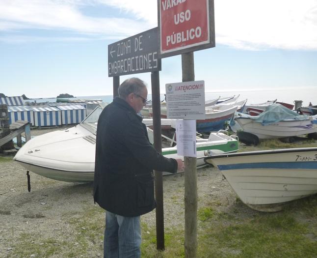 El Ayuntamiento de Almuñécar retirará de las playas los barcos que estén fuera de los embarcaderos señalizados