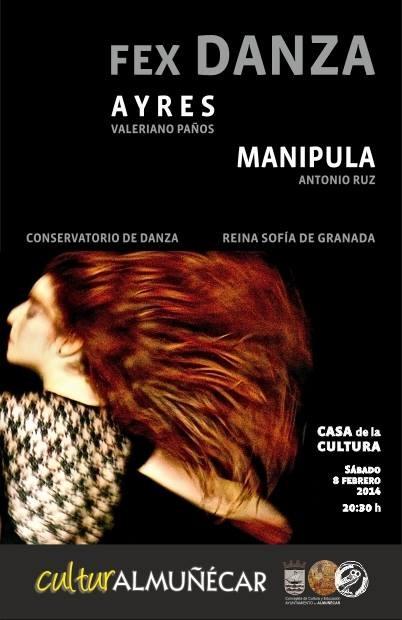 """El FEX  y el Conservatorio de Danza Reina Sofía presentan este sábado Almuñécar el espectáculo de danza """"Ayres y Manipula"""""""