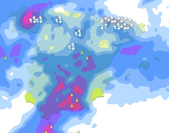 Alerta amarilla por viento y lluvias durante este fin de semana en la costa de Granada