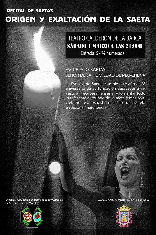 """Recital de saetas en Motril: """"Origen y Exaltación de la Saeta"""""""