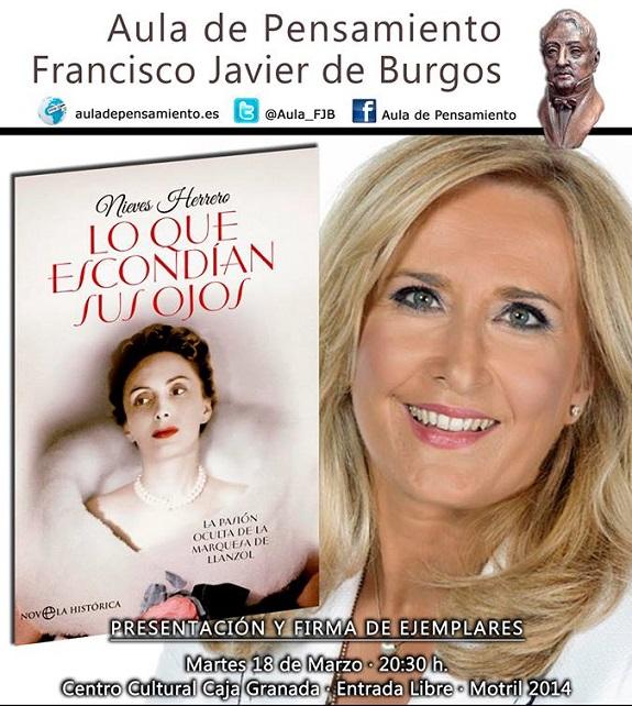 La periodista Nieves Herrero en el Aula de Pensamiento de Motril