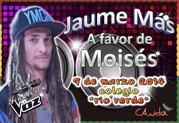 JAUME MÁS, finalista en La Voz, actuará este domingo a benefico de la CANDA