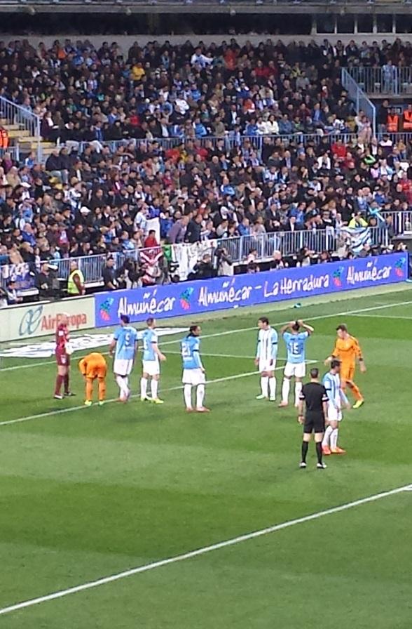 Almuñécar fue protagonista en La Rosaleda durante el  encuentro entre el Málaga y  el Real Madrid