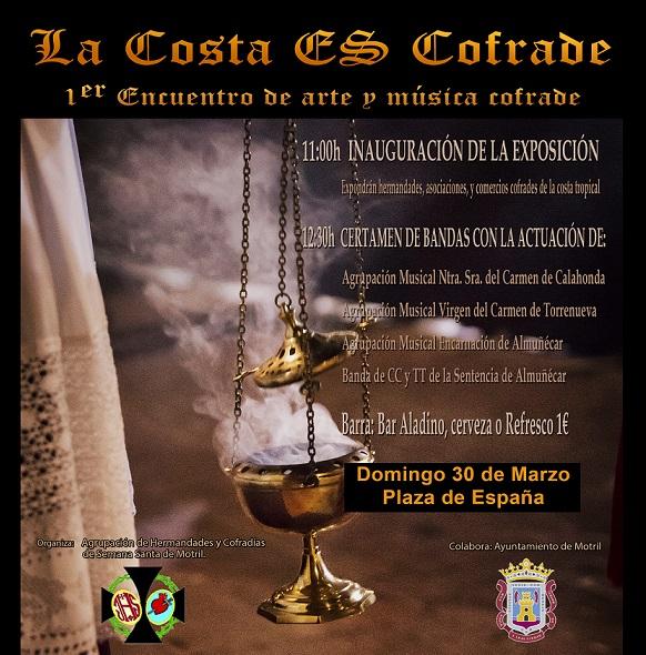 """Este domingo se celebra el 1º Encuentro de Arte Y Música Cofrade. """"La Costa es Cofrade"""""""