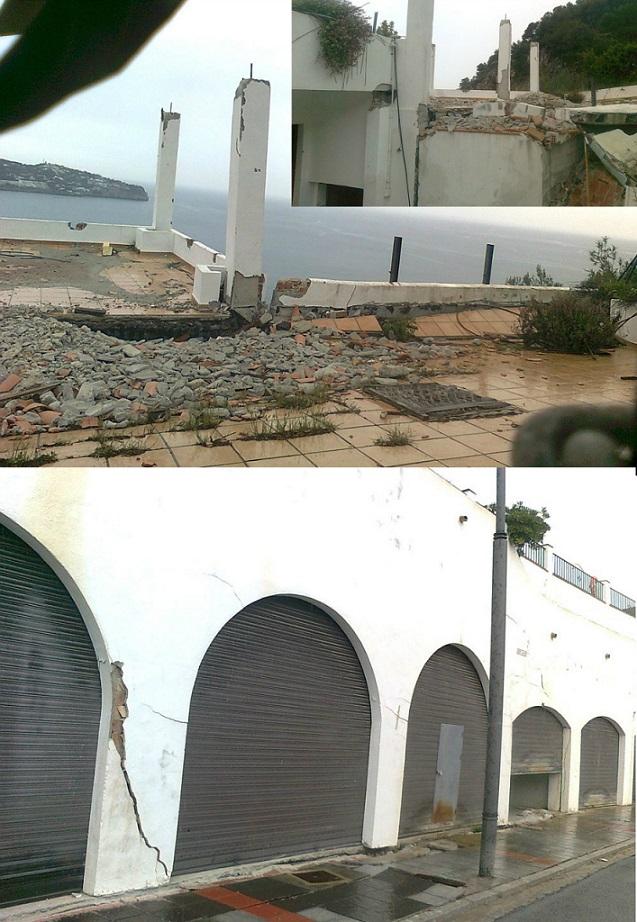 """Los vecinos de Cármenes del Mar acusan a la Junta y al Gobierno central de """"no mover un dedo"""" para ayudarles"""