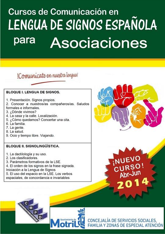 Comienza el plazo de inscripción para el curso de lengua de signos destinado a asociaciones