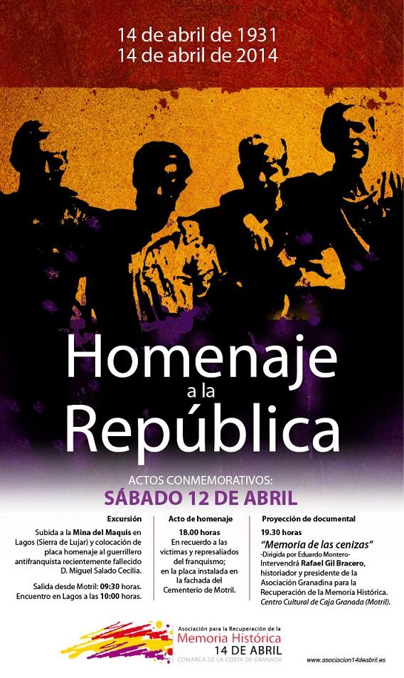 La Asociación 14 de abril programa actividades para conmemorar la República