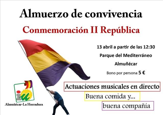 El domingo 13 de abril, el parque Mediterráneo acogerá una fiesta republicana organizada por IU