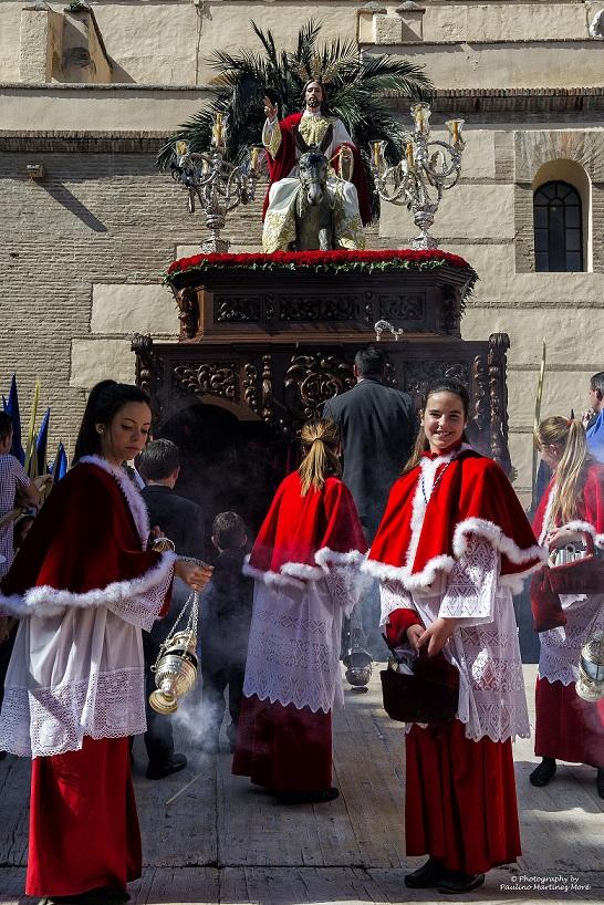 La procesión de la Burriquita de Motril desde la cámara de Paulino Martínez Moré