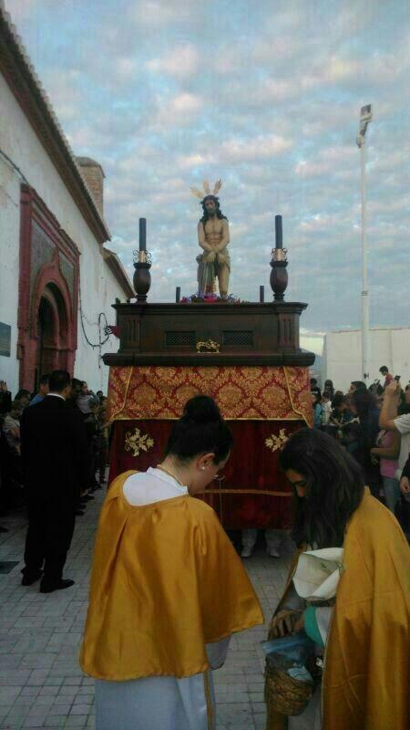 La procesión del Santísimo Cristo de la Humildad iniciaba la Semana Santa de Salobreña