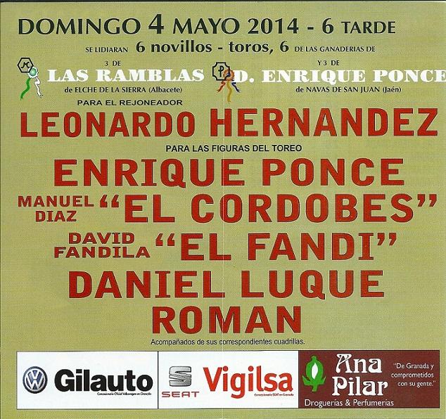 """Enrique Ponce, Manuel Díaz """"El Cordobés"""", David Fandila """"El Fandi"""" en favor de Granadown"""