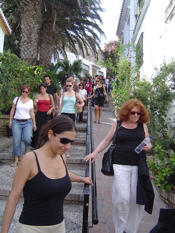 Un grupo de periodistas de Estados Unidos visita Salobreña