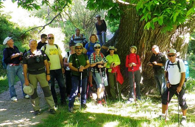 Senderistas sexitanos recorrieron la ruta alpujarreña entre Portugos y Bubión