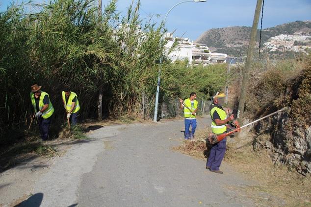 La Tenencia de Alcaldía de La Herradura lleva a cabo una campaña intensa de limpieza de viales