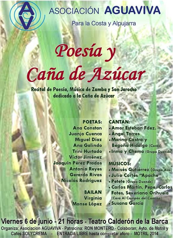 """Recital de """"Poesía y caña de azúcar"""" el viernes en el Teatro Calderón"""