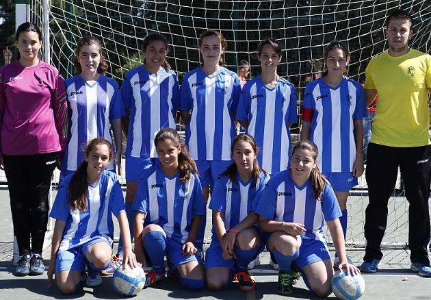 El equipo femenino de fútbol sala de Vélez de Benaudalla campeonas de los juegos provinciales