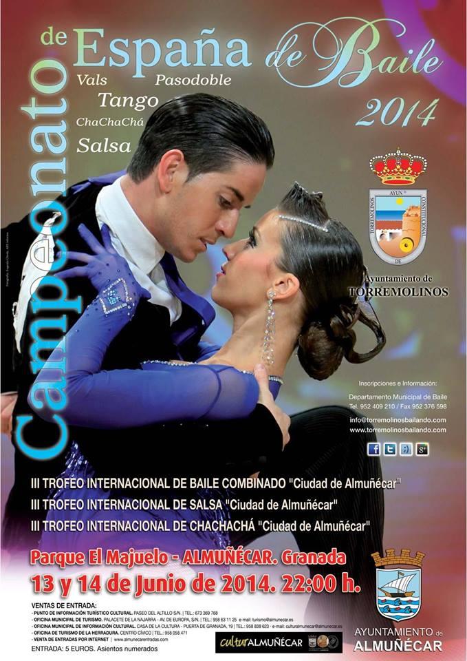 Trofeo Internacional de baile combinado de Almuñécar en la modalidad vals, tango, pasodoble y chachachá