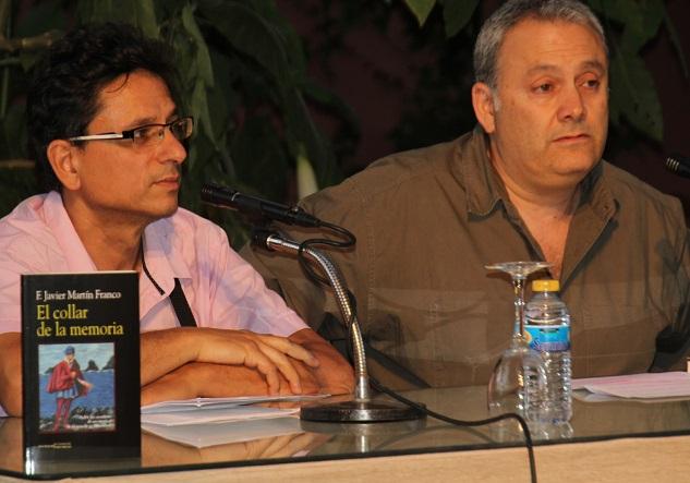 Javier Martín Franco presentó en el Palacete La Najarra su nueva  novela