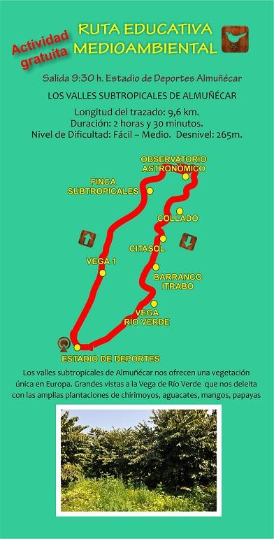 Una ruta de senderismo en Almuñécar apuesta por la conservación del patrimonio cultural y medioambiental