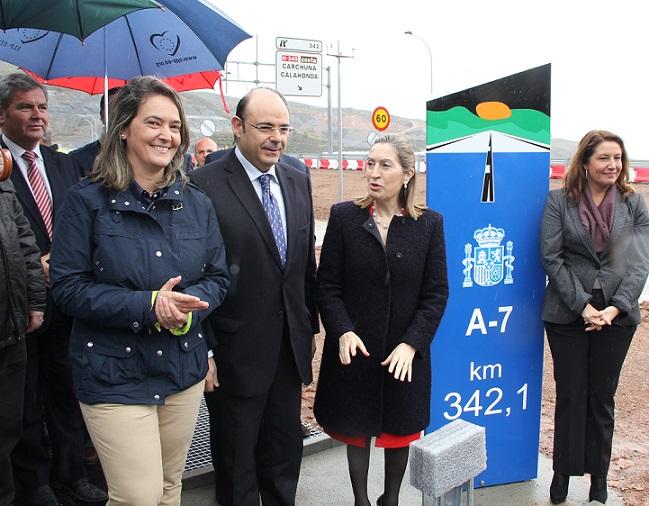 García Chamorro afirma que el Gobierno central cumple los plazos anunciados para la finalización de los tramos de la Autovía del Mediterráneo