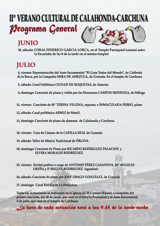 IIº Verano Cultural Calahonda Carchuna