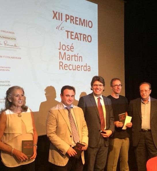 El dramaturgo Tomás Afán Muñoz recoge el XII Premio de Teatro Martín Recuerda