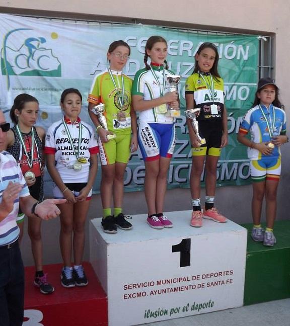 La ciclista almuñequera Isabel Rodríguez se proclama Campeona de Andalucía