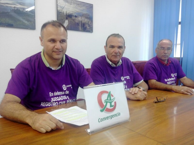 """""""En defensa de los juzgados y Registro Civil en Motril"""" por Convergencia Andaluza"""