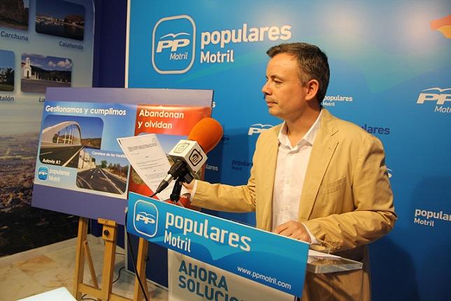"""PP-Motril exige a la Junta """"que dé la cara"""" tras una década de incumplimiento para la construcción de la Ronda Sur"""
