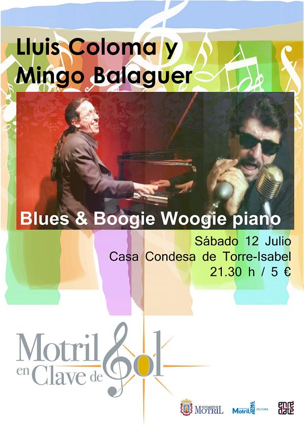 Lluis Coloma y Mingo Balaguer hoy sábado en concierto en Motril