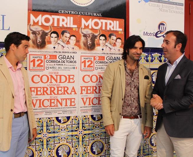 Javier Conde abrirá el cartel taurino de las fiestas patronales el próximo 12 de agosto