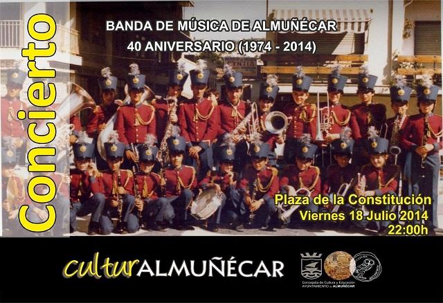 La Banda Municipal de Almuñécar conmemora el 40 aniversario de su primer concierto